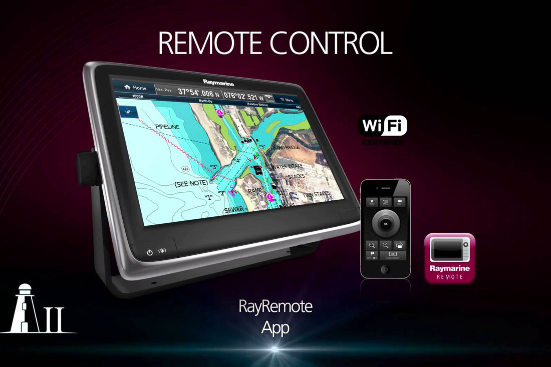 display multifunzione raymarine a series controllo remoto